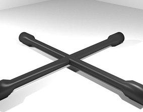 3D model Mechanical Handtools - 4-way Lug Wrench