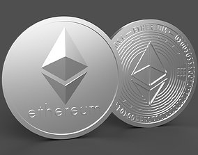 Ethereum Coin 3d Model - Ethereum STL 3d Print