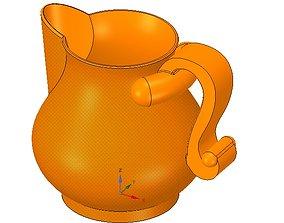 cup jug vessel vpot17 for 3d-print or cnc