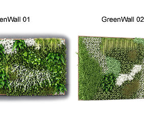 Green wall pack 3D model