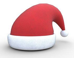 Christmas Santa Claus hat 3D asset