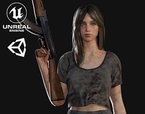 Survival Girl - Game Ready 3D model
