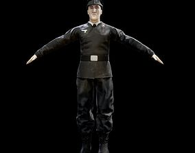 Wehrmacht Panzer Division Tank Crew Soldier - 3D model 2