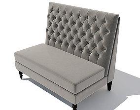 Sofa Pri Tucra Velvet Skylark Upholstered 3D model