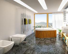 3D model Bathroom 2
