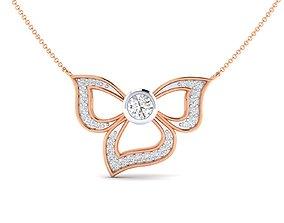 wedding Women necklace 3dm stl render detail