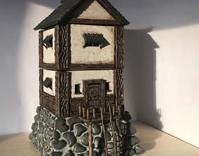 3D printable model 28mm Samurai Watchtower fortification