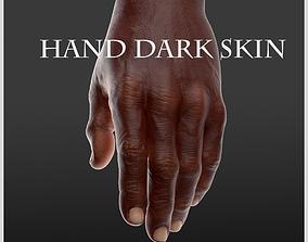 3D model Hand Dark skin LowPoly CG