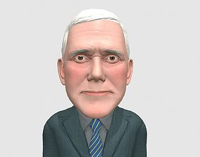 Mike Pence caricature 3D asset