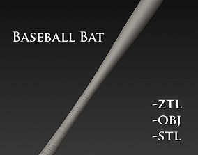 handgun Baseball Bat 3D model
