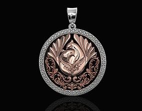 3D printable model The loving doves pendant