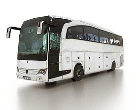 Low poly Mercedes-Benz Travego bus 3D asset