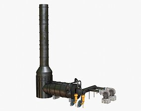 Industrial Thermo Oxidizer 3D model