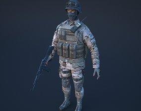 warrior Soldier 3D model realtime