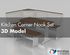Kitchen Corner Nook Set 3D model