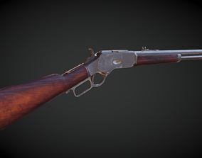 3D asset winchester 1873 Model and Textures Low-poly
