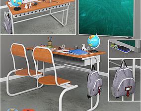 3D model School supplies