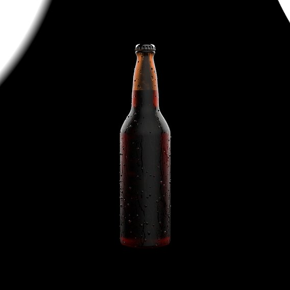 Beer Bottle With WaterDrops