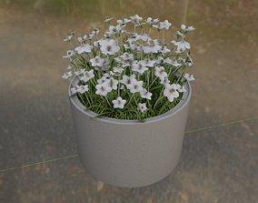 3D model Concrete Pipe Pot 1000mm with White Version 1