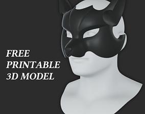 Cyber Fox Mask 3D printable model