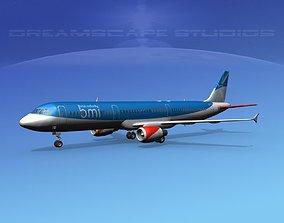 Airbus A321 British Midlands 3D
