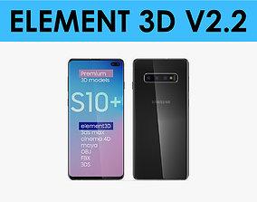 E3D - Samsung Galaxy S10 Plus Black 3D model