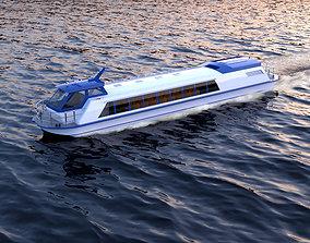 Hover Passenger Boat 3D