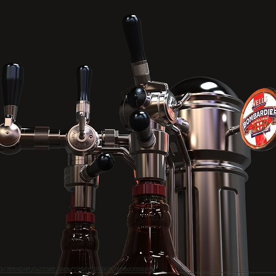 Device (Pegasus), for beer bottling in PET containers.
