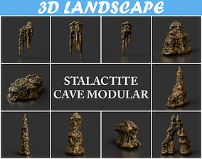Low poly Stalactite Cave Modular Pack B 2020 3D asset