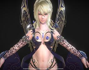 RPG Girl Character Illu 3D asset