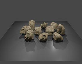 3D model Blouder cliff 10pcs