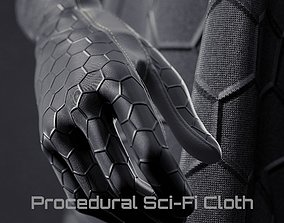 Procedural Sci Fi Cloth Shader 3D model