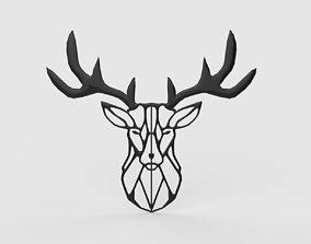 3D asset Deer wall decor