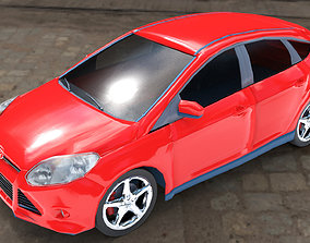 3D asset Ford Focus Titanium 2012