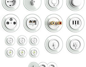 Switches and sockets THPG Duroplast Glass 3D model