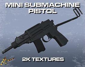 Mini Sub-Machine Pistol 3D asset