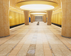 3D model VR / AR ready Subway Station 05