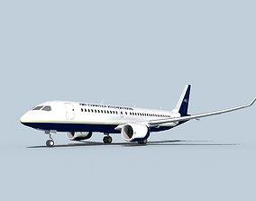 3D model Bombardier CS100 Air Charter Intl