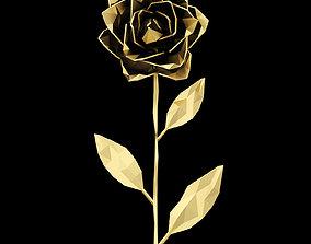 3D model Abstract Golden Rose