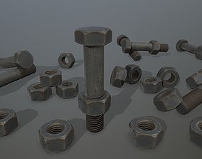 industrial 3D model low-poly Bolts