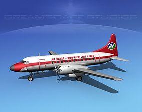 3D model Convair CV-340 Alaska Frontier