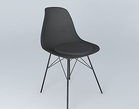 Black chair BRIGHTON houses the world 3D model