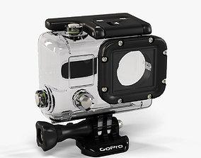 GoPro Hero3 Waterhousing 3D asset