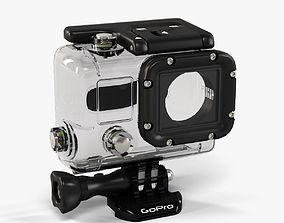 3D asset GoPro Hero3 Waterhousing