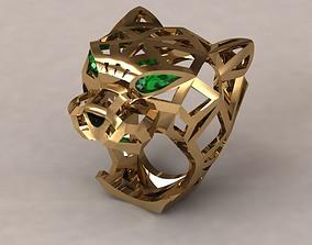 3D print model cartier tiger ring panther brand