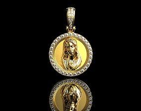 Virgin Mary With Diamonds Pendant 20mm 3D printable model