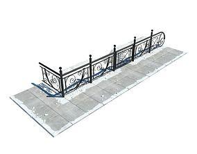 3D model Hand Steel Rail