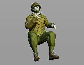American Army Military Driver Second World 3D print model
