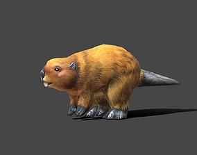 3D asset Beaver Baby - Low poly Animal