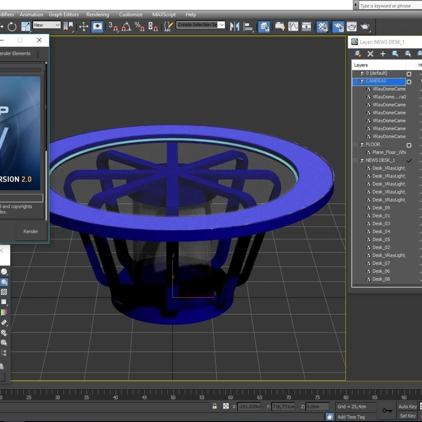 3D TV Studio News Desk 1